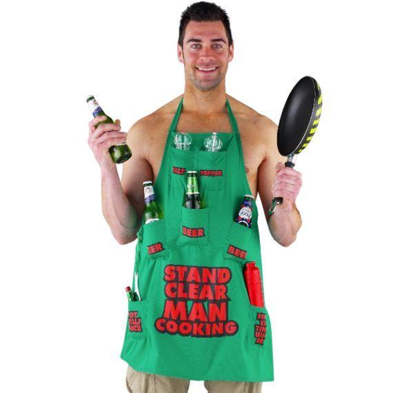 Ανδρική ποδιά μαγειρικής - Stand Clear Man Cooking